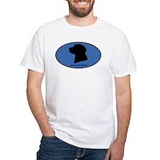 Labrador Retriever (oval-blue Shirt