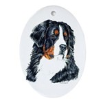 Bernese Mountain Dog Oval Ornament