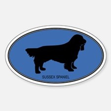 Sussex Spaniel (oval-blue) Oval Decal