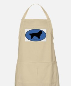 Sussex Spaniel (oval-blue) BBQ Apron