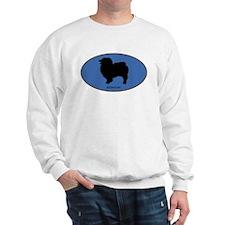 Keeshound (oval-blue) Sweatshirt