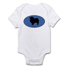 Keeshound (oval-blue) Infant Bodysuit