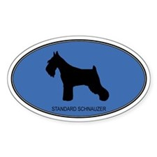 Standard Schnauzer (oval-blue Oval Decal