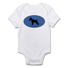 Standard Schnauzer (oval-blue Infant Bodysuit