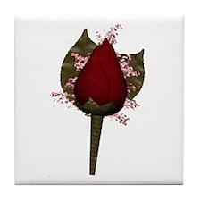 Rose Boutonniere Tile Coaster