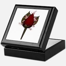 Rose Boutonniere Keepsake Box