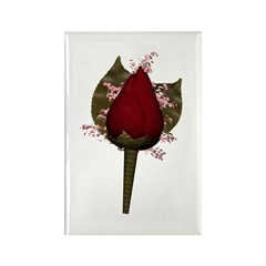 Rose Boutonniere Rectangle Magnet