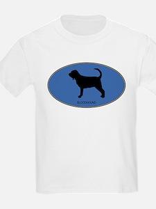 Bloodhound (oval-blue) T-Shirt