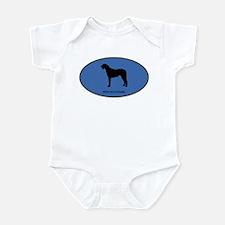 Irish Wolfhound (oval-blue) Infant Bodysuit