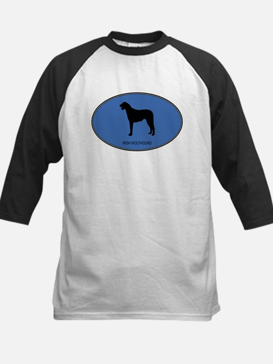 Irish Wolfhound (oval-blue) Tee