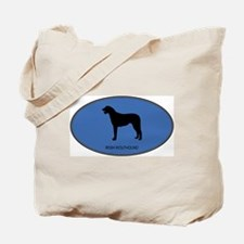 Irish Wolfhound (oval-blue) Tote Bag