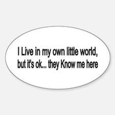 little world Oval Decal