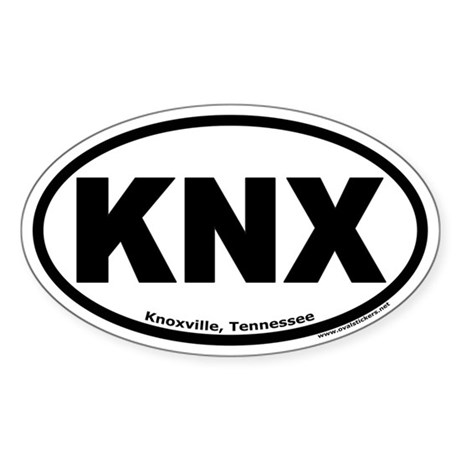 """Knoxville, Tennessee """"KNX"""" Oval Sticker"""