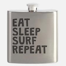 Eat Sleep Surf Repeat Flask