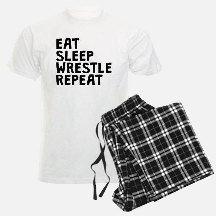 Eat Sleep Wrestle Repeat Pajamas