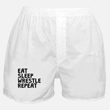 Eat Sleep Wrestle Repeat Boxer Shorts