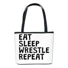 Eat Sleep Wrestle Repeat Bucket Bag