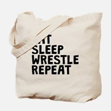 Eat Sleep Wrestle Repeat Tote Bag