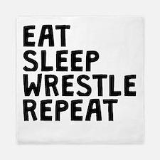 Eat Sleep Wrestle Repeat Queen Duvet