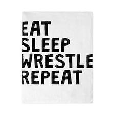 Eat Sleep Wrestle Repeat Twin Duvet