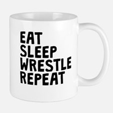 Eat Sleep Wrestle Repeat Mugs