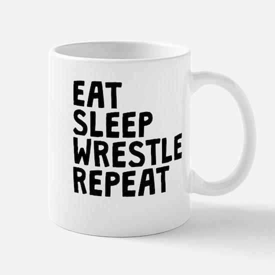 Eat Sleep Wrestle Repeat Mugs