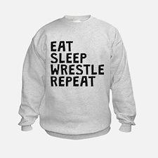 Eat Sleep Wrestle Repeat Sweatshirt