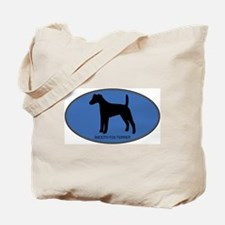 Smooth Fox Terrier (oval-blue Tote Bag