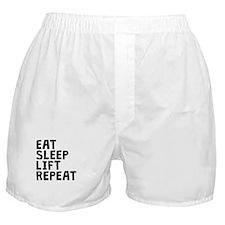 Eat Sleep Lift Repeat Boxer Shorts