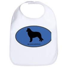 Belgian Sheepdog (oval-blue) Bib