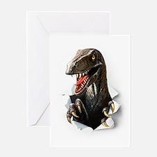 Velociraptor Dinosaur Greeting Card
