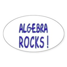 Algebra Rocks Oval Decal