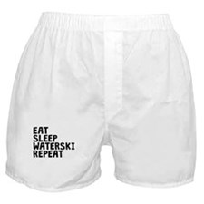 Eat Sleep Waterski Repeat Boxer Shorts
