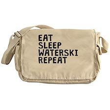 Eat Sleep Waterski Repeat Messenger Bag