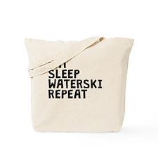 Eat Sleep Waterski Repeat Tote Bag