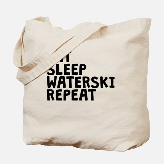 Eat Sleep Waterski Repeat Tote Bag