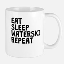 Eat Sleep Waterski Repeat Mugs
