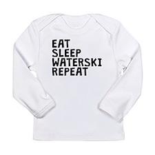 Eat Sleep Waterski Repeat Long Sleeve T-Shirt