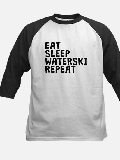 Eat Sleep Waterski Repeat Baseball Jersey