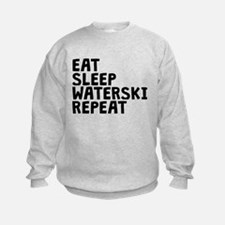 Eat Sleep Waterski Repeat Sweatshirt