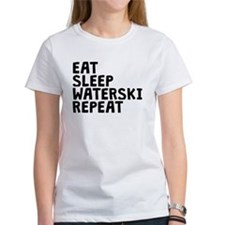 Eat Sleep Waterski Repeat T-Shirt