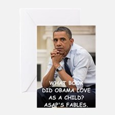anti obama joke Greeting Cards