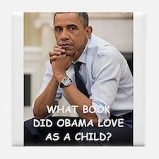 anti obama joke Tile Coaster