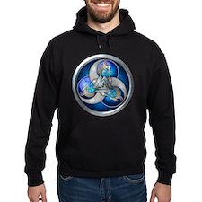 Blue Norse Triple Dragons Hoodie