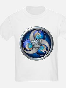 Blue Norse Triple Dragons T-Shirt