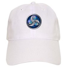 Blue Norse Triple Dragons Baseball Cap