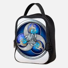 Blue Norse Triple Dragons Neoprene Lunch Bag