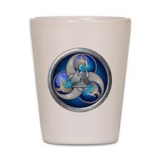 Blue Norse Triple Dragons Shot Glass