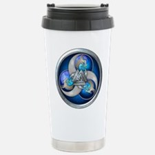 Blue Norse Triple Drago Travel Mug