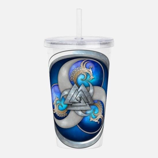 Blue Norse Triple Drag Acrylic Double-wall Tumbler